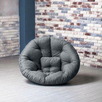 Кресло оустер бостон xl темно-серый xl