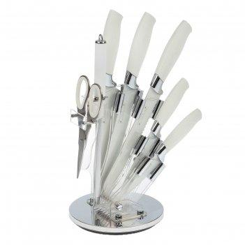Набор 7 пред: 5 ножей 20/20/20/12/9 см, мусат, ножницы на подставке white