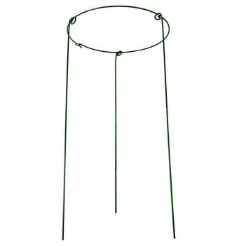 Кустодержатель d=40 см круг, цвет зеленый (ножка d=5 мм)