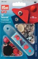 Непришивные кнопки anorak (латунь) красный цв. 15 мм, 10 шт