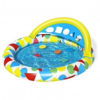 Бассейн надувной детский splash   learn, 120 x 117 x 46 см, с навесом 5237