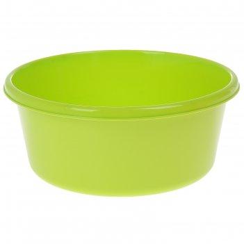 Таз круглый 8 л, цвет салатовый