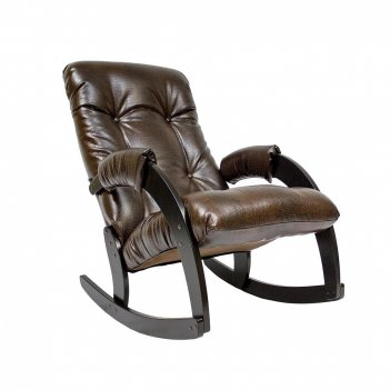 Кресло-качалка ми модель 67, венге, к/з antik crocodile