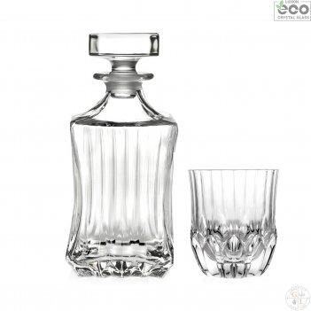 Набор для виски rcr adagio 7 предметов (графин 750мл стаканы 350мл)