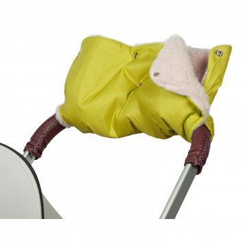 Муфта для рук на коляску меховая (однотонная), цвет зелёный мкм04-000