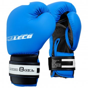 Перчатки боксерские, 12 унций, цвет: синий