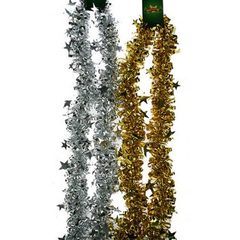 Мишура  золото/серебро 180см