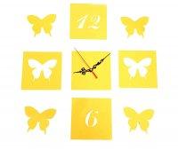 Часы настенные интерьерные наклейка бабочки