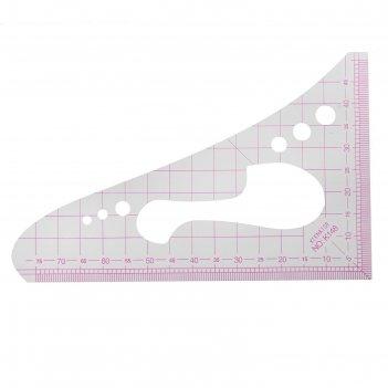 Лекало портновское метрическое «треугольник», 16 x 10,3 см, цвет прозрачны