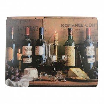 Creative tops набор из 6 подставок vintage wine 23x30