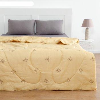 Одеяло овечья шерсть 220x205 см, полиэфирное волокно 200 гр/м, пэ 100%