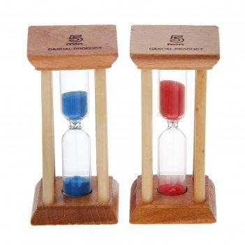 Часы песочные основание квадрат 5 минут микс 4,5х4,5х9,5 см