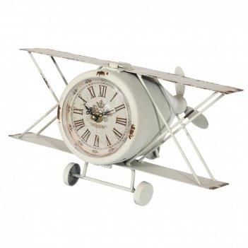 Часы настольные декоративные самолет, l31 w24 h20 см, (1хаа не прилаг.)