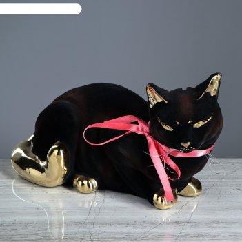 Копилка кошка ляля флок, булат, черная