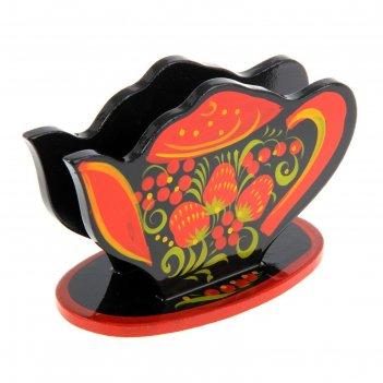 Салфетница  чайник  хохлома 14*10*11 см