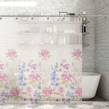 Штора для ванной акварель, 180х180 см. eva