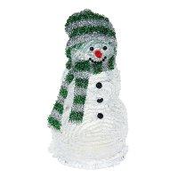 Фигура акрил. снеговик 20х10х10 см, led (батарейки ааа lr44*3 шт.не в комп