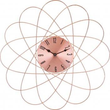 Часы настенные 50*50*4,5 см циферблат диаметр=16 см. (кор=6шт.)