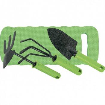 Набор садового инструмента, пластиковые рукоятки, 4 предмета, standard pal