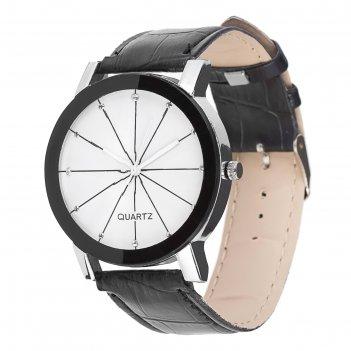 Часы наручные сальпика, черные, d=4.5 см