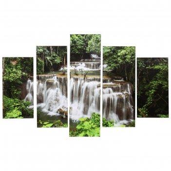 Модульная картина на подрамнике водопады