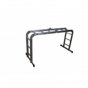 Лестница-трансформер вихрь лта 4х3, алюминиевая, рабочая высота 3.3 м