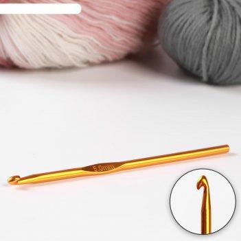 Крючок для вязания, d = 5 мм, 15 см, цвет микс