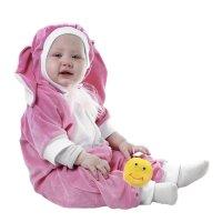 Карнавальный комбинезон для самых маленьких зайка розовый рост 68-92