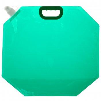 Канистра туристическая 10 л, цвет зеленый
