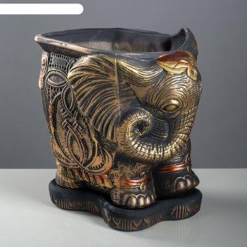Кашпо слон большой акрил 11л медь