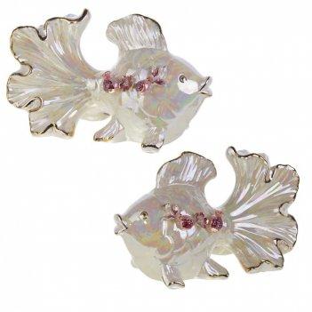 Фигурка декоративная рыбка, l17 w14,5 h14 см, 2в