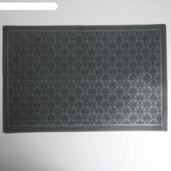 Коврик резиновый 40x60 см узор, цвет серый