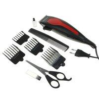 Машинка для стрижки волос kelli kl-7008, 60 вт, 4 съемных гребня, микс