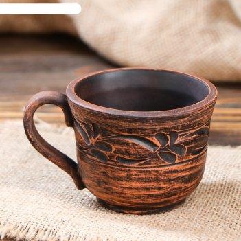 Чашка кофейная узорная, декор, 0,15 л