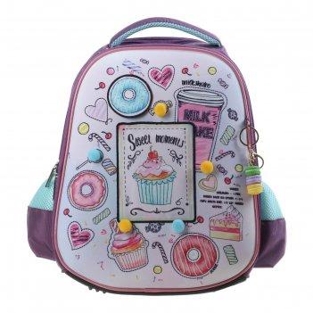 Рюкзак каркасный hatber ergonomic plus 38 х 29 х 6, для девочки sweet mome