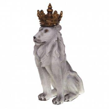 Фигурка декоративная лев, l25 w39 h81 см