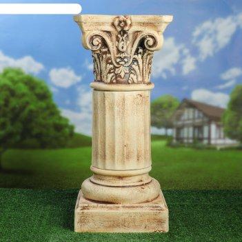 Садовая фигура колонна композитная большая шамот