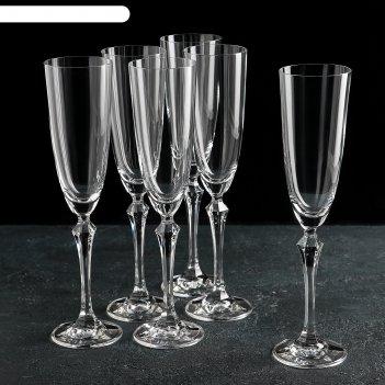 Набор фужеров для шампанского 200 мл элизабет, 6 шт