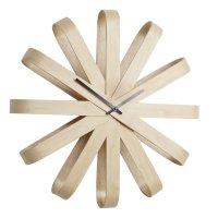 Часы настенные ribbon, материал: дерево, размер: 51,2 х 51,2 х 10 см, umbr
