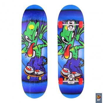 103971 скейтборд 28″ 71х20 пришельцы длинный язык
