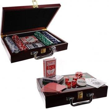 Игра настольная покер (200 фишек, карты), l30 w21 h6 см