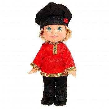 Кукла веснушка в русском костюме, 26 см