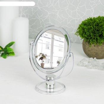 Зеркало настольное на ножке круглое, цвет прозрачный