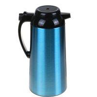 Термос-кофейник 1900мл, синий хром 20х14х33