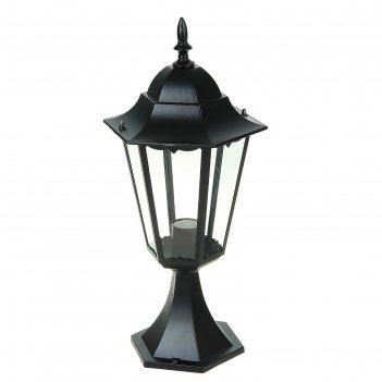 Светильник tdm 6100-04 садово-парковый шестигранник, 100вт, стойка, черный