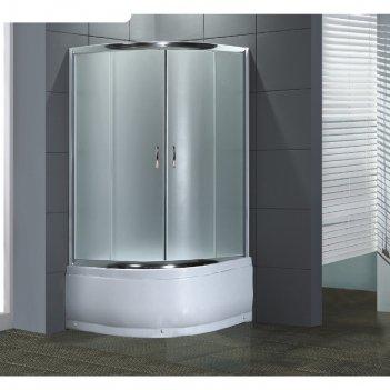 Душевое ограждение loranto cs-834, 100x100x195 см, матовое стекло 4 мм, вы