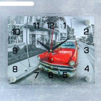 Часы настенные, серия: транспорт, ретро автомобиль, 20х26 см  микс