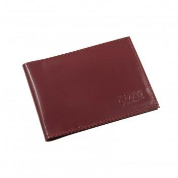 Обложка для автодокументов, натуральная кожа, цвет красный