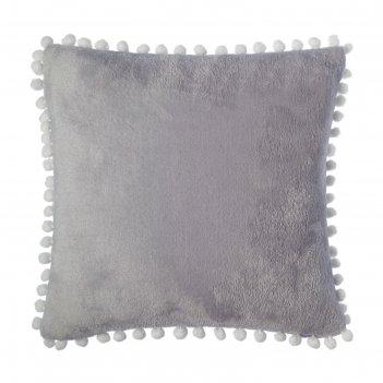 Наволочка этель, р-р 40х40 см, серый, 100% п/э