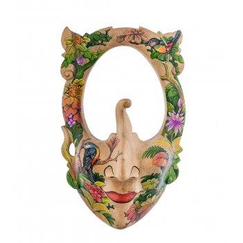 44-007 зеркало-маска расписная тропический остров
